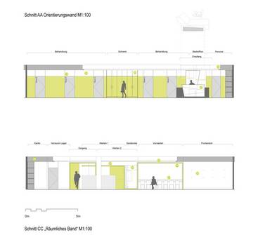 """Saaleklinik I"" | Chirurgische Praxis - Innenraumplanung (Bild 10/13)"
