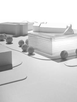 """Insel""   Labor- Institutsgebäude - Neubauplanung (Bild 4/4)"